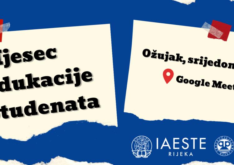IAESTE Rijeka: online Mjesec edukacije studenata